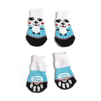 Patrón lindo Calcetines para mascotas Suave puro Algodón Perros Gatos Calcetines Calcetines dulces para interiores Suministros