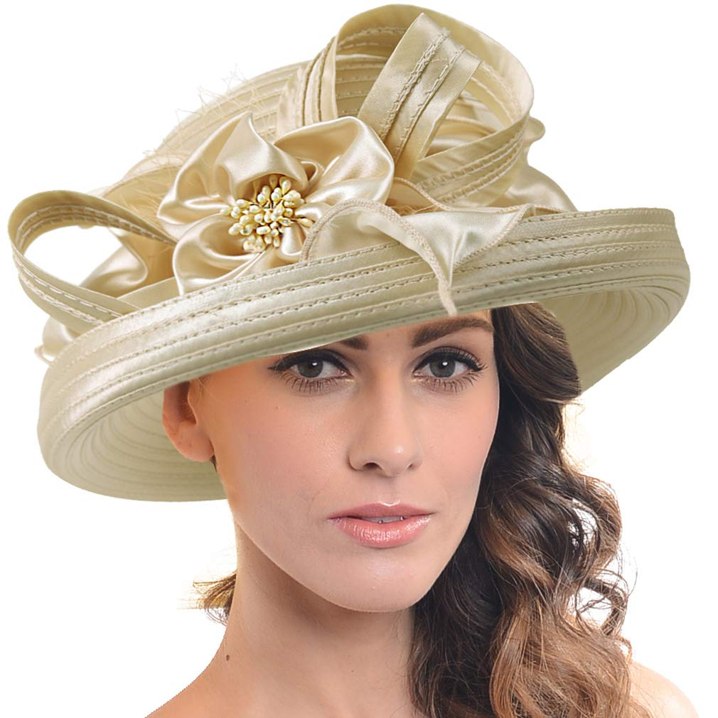 FORBUSITE Church Kentucky Derby Dress Hats for Women SD710