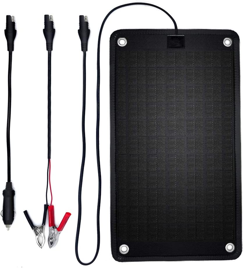 PowerEZ 24Volt 10 Watts Solar Battery Charger for Trolling Motor,Boat, RV Marine, 0.28 Amp Trickle Solar Charger, Self Regulating-No Experience Plug Play Design, Dimension 16.14 X 9.13×0.31inch