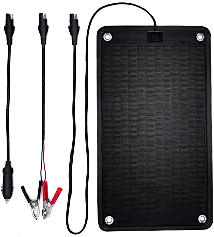 Amazon Com Powerez 24volt 10 Watts Solar Battery Charger For Trolling Motor Boat Rv Marine 0 28 Amp Trickle Solar Charger Self Regulating No Experience Plug Play Design Dimension 16 14 X 9 13x0 31inch Home Audio