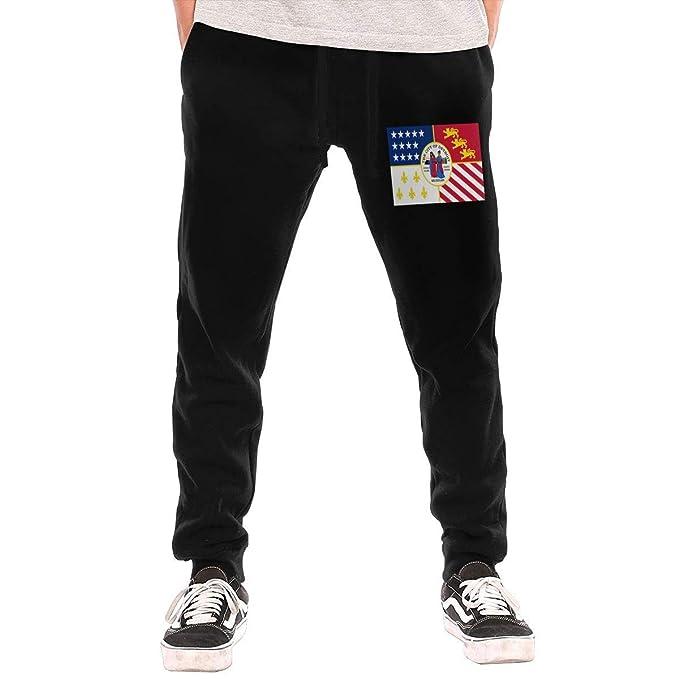 Pantalones de chándal para Hombre Detroit City Flag Michigan ...