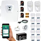 Alarme Residencial Wifi 12 Sensores 3 Controles Bateria Sirene Aplicativo Compatec AW6