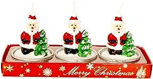 Tutuba Christmas Candles Set, Christmas Santa Candles Gift Set Christmas Decoration for Home,Party