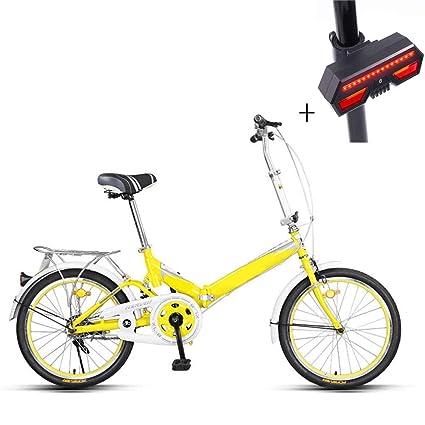 Bicicleta, Bicicleta Plegable, 20 Pulgadas, Acero De Alto Carbono, Freno De La