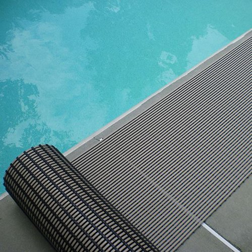 VinGrate Mat Wet Area Floor Matting for Swimming Pool Shower/Locker Room Bathroom Sauna SPA 4-Way Water Drain Indoor/Outdoor Use 3/8'' Thick Non-Slip Comfortable on Barefoot (3' x 6', Black, 1)