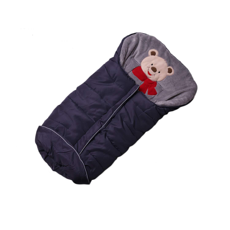 Footmuff for Stroller,Baby Sleeping Bag Universal Waterproof Baby Bunting Bag(Navy,Small)