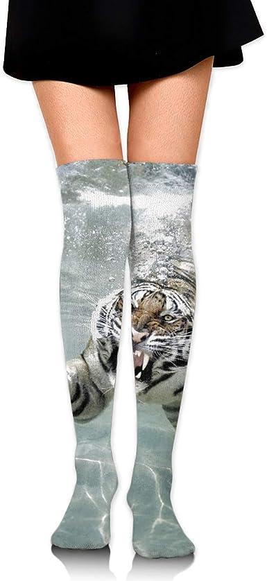 High Elasticity Girl Cotton Knee High Socks Uniform Tiger Women Tube Socks
