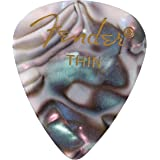 Fender 351 Shape Premium Picks (12 Pack) for electric guitar, acoustic guitar, mandolin, and bass, 351 - Thin, Multicolor (Ab