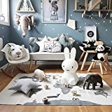 EITC Kids Carpet Playmat Rug World Map Crawling Mat Learn and Have Fun Safely Children Baby Play Mat