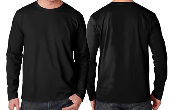 32429015ae1 SURFACE SPF Men s UPF 50+ Sun Protection Performance Long Sleeve T-Shirt  (Black