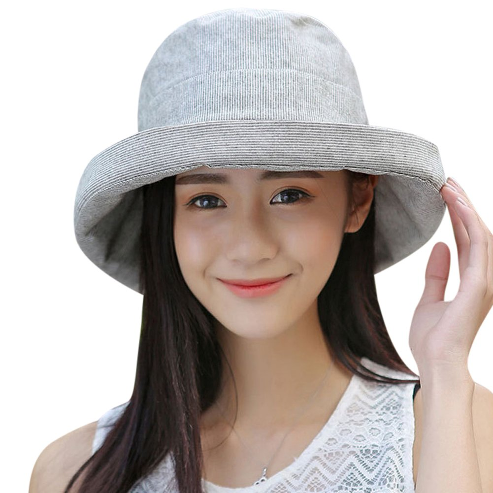 70e1bde6294 Galleon - HINDAWI Sun Hat Wide Brim Sun Hats For Women Packable UPF UV  Protection Visor Floppy Beach Womens Summer Cap (Y-Grey)