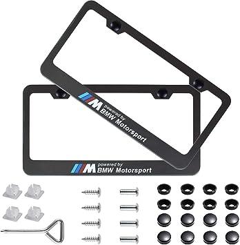 USA Standart Vehicle License Plates BMW M5 Emblem For All Models NEW 2 Pcs