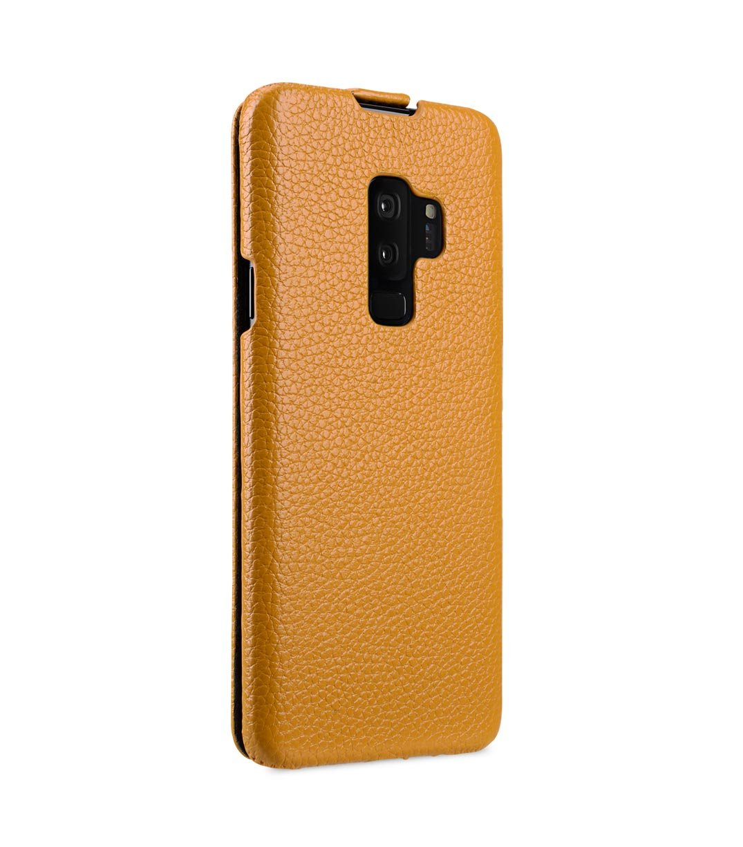 Green LC Jacka Type Melkco Premium Cow Leather Flip Down Vertical with Buckle Closure and Handmade for Samsung Galaxy S9 Case