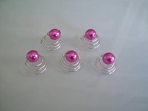 lot 10 Pics cheveux chignon Mariée//Mariage Blanc//Rose Fuchsia perle pas cher