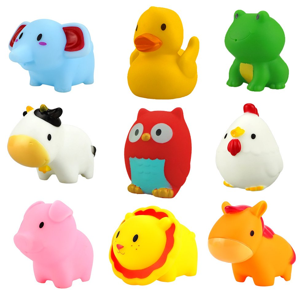 WIKI Toys 1-2 Year Old Boys Girls, Soft Rubber Bath Toys Toddlers 6-12 Month Baby Toys Gifts 1-2 Year Old Girls Gifts 1-2 Year Old Boys Toys 1-2 Year Old Girls sty1 WKUSTJS01
