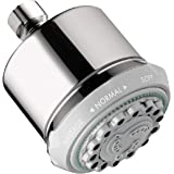 hansgrohe Clubmaster 4-Inch Showerhead Easy Install Modern 3 Full, Pulsating Massage, Soft Spray Easy Clean with QuickClean i