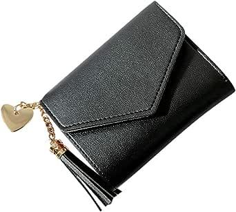 جلد اسود لل نساء - محفظة للبطاقات والهويات