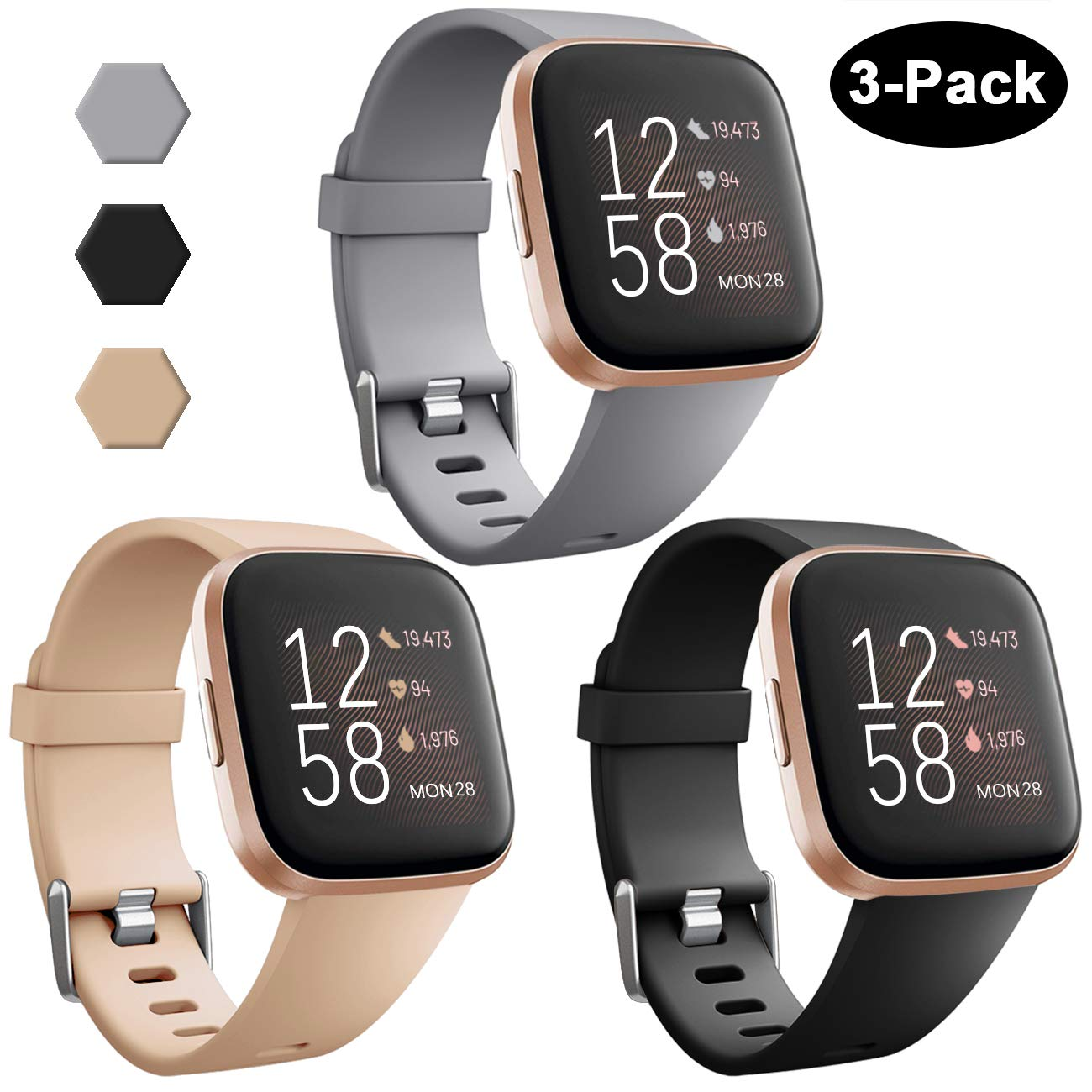 3 Mallas Reloj Fitbit Versa/fitbit Versa 2/fitbit Versa Lite