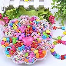 Lanlan 1 PCS DIY Jewelry Making Beading Kit Necklace Bracelet Bead for Children Craft Kit Kindergarten Handmade Materials Birthday Christmas Toy Gift Sun Flower Shape Cartoon Candy