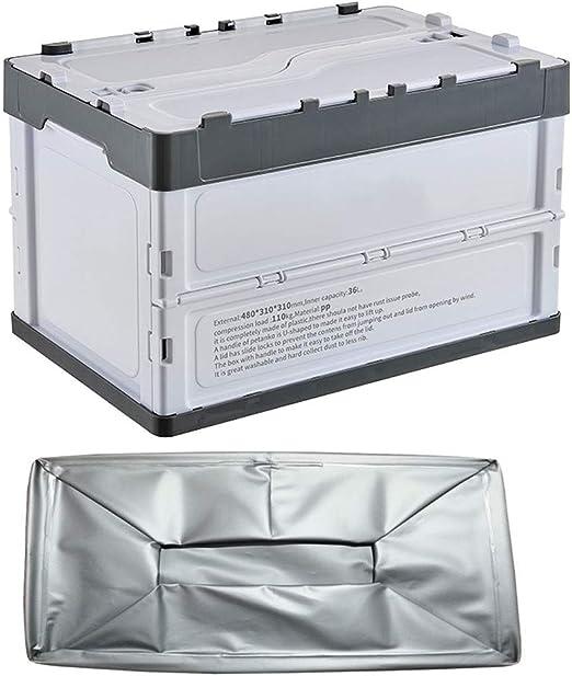 Caja Plegable de Plástico de Almacenamiento, 36L cajas con tapas ...
