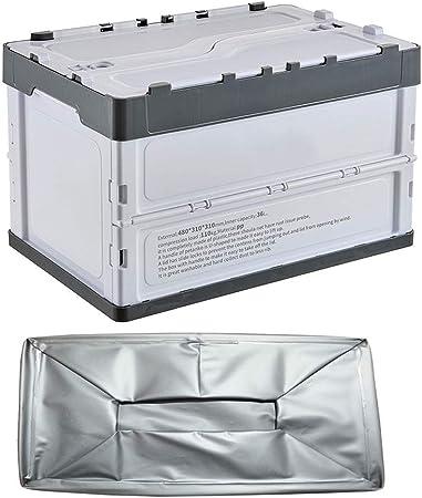 Caja Plegable de Plástico de Almacenamiento, 36L cajas con tapas,cajas almacenaje plegable de plástico, reutilizable plegable Rectángulo móvil for organizar,movimiento,largo tiempo de almacenamiento: Amazon.es: Hogar