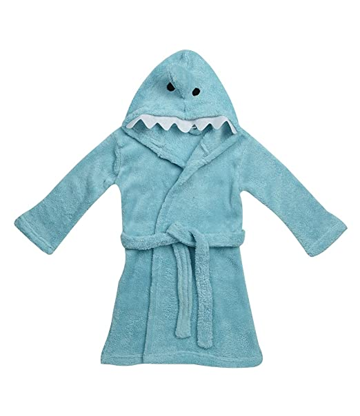 Zest Baby Animal Shark Fleece Bademantel mit Kapuze: Amazon.de ...