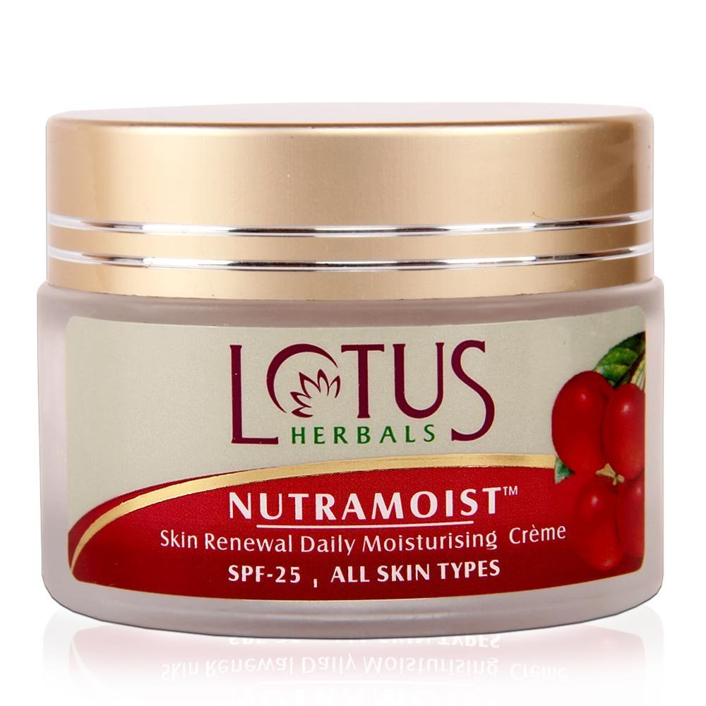 Lotus Herbals Nutramoist Skin Renewal Daily Moisturising Creme with SPF 25, 50g product image