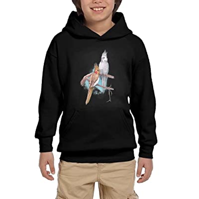 Parrot In Love Youth Pullover Hoodies Hip Hop Pockets Sweatsuit