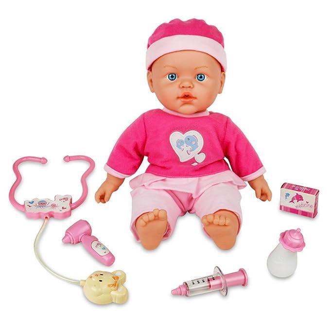 JVY Recién nacido muñeca Set Baby Girl Doll Play Set con juego de médico para niños los niños edad 2 3 4 5 6 años