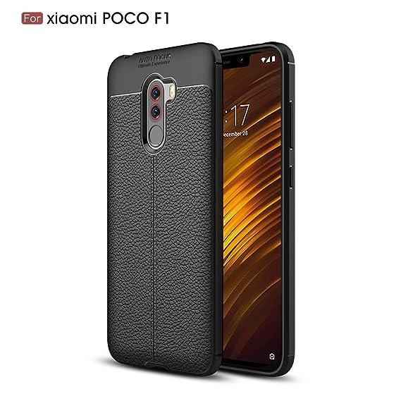 size 40 dd944 225c8 Amazon.com: Xiaomi Poco F1 Case,2PCS DAYJOY Leather Pattern Design ...