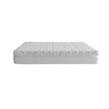 Royal Beds Box Spring Plus Colchón + Topper, Tela, Blanco, Matrimonial, 180x35x35