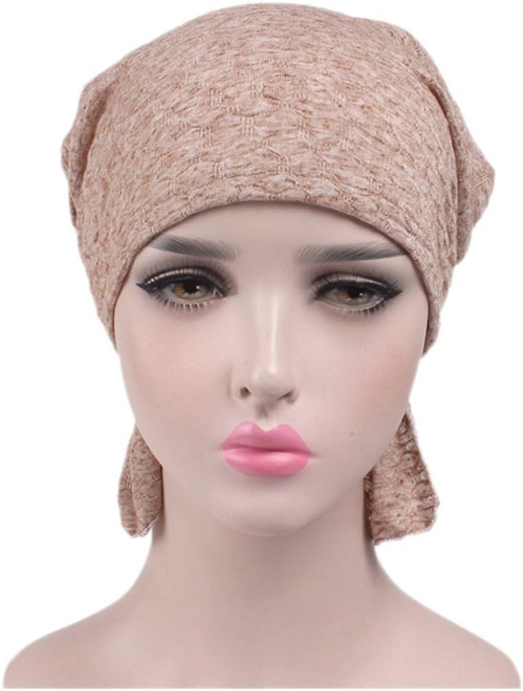 Boboder Sombrero de la gorra de Slouchy del casquillo de la quimio de las mujeres Sombrero suave de la cabeza del Headwear del turbante
