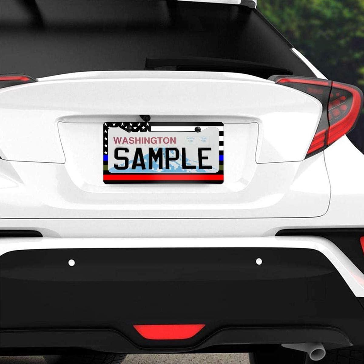 leisure MART License Plate Frame Art of Baseball and Flag Car Tag Frame Car Plate Frame License Plate Holder Auto License Plate Frame