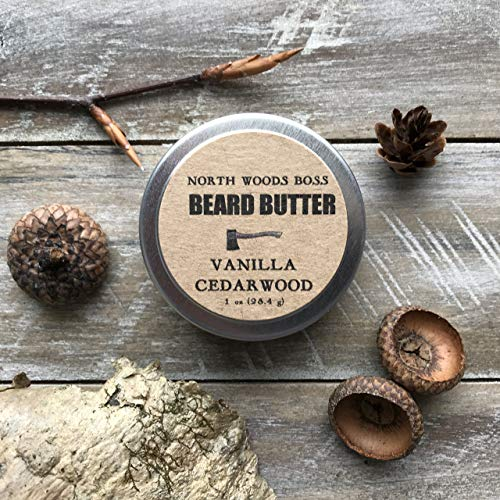 Beard Oil Beard Butter in Vanilla Cedarwood 2 Ounce Handmade in Maine with Organic Oils Beard Conditioner by North Woods Soap