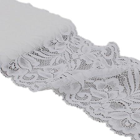 Party Kleidung Stretch-T/üll-Spitzenbesatz Zubeh/ör f/ür DIY Schmuckherstellung 4,5 m rot Dekoration Florales Spitzenband Geschenkverpackung 15 cm breit Hochzeit elastisches Gurtband Handwerk