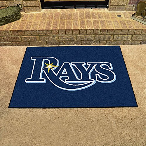 """Fanmats Home Indoor Sports Team Logo Mat Tampa Bay Rays All-Star Rugs 34""""x45"""""""