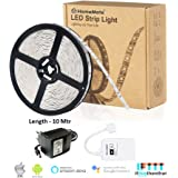 HomeMate® Wi-Fi Multicolour Smart LED Strip Kit (10 Mtr) | No Hub Required | Compatible with Alexa, Google home and IFTTT