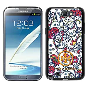 New Fashionable And Durable Designed Case For Samsung Galaxy Note 2 N7100 With Tory Burch 26 Black Phone Case