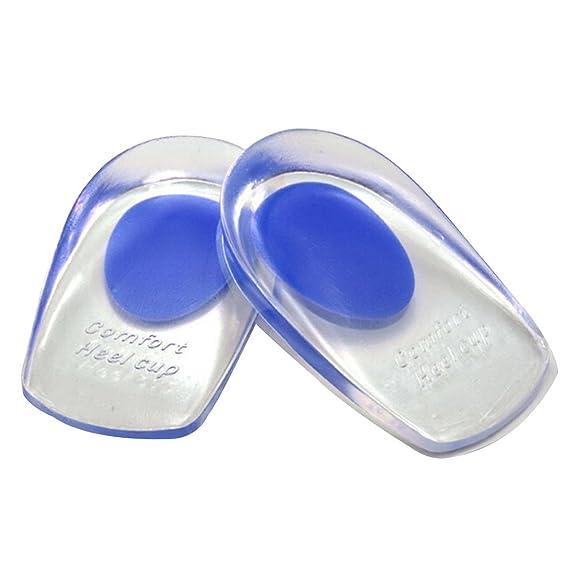 2 opinioni per C-foot Soletta per tallone in gel, in silicone medicale, imbottitura di supporto