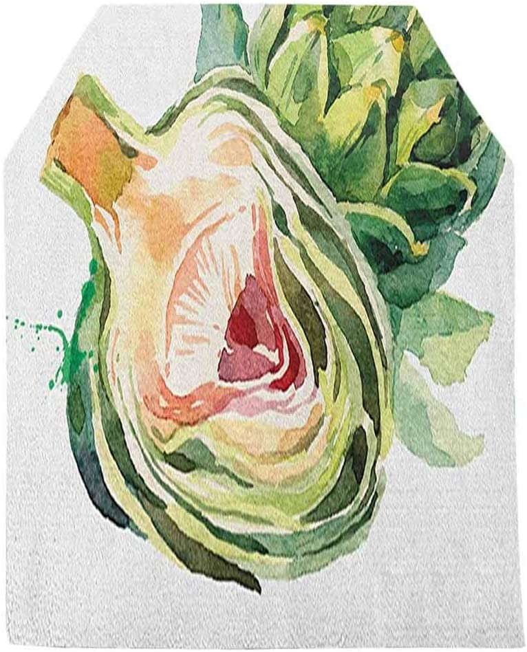 Albert Lindsay Backdrop Artichoke Table Runner,Going Green Vegetable Food Eating Health Hand Drawn Watercolor Tabletop Collection for Dinner Holiday Parties,12x48 Inch,Fern Green and Dried Rose