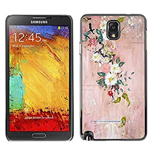 Hard Protector Case Cover Slim Back Shell for Samsung Note 3 N9000 N9002 N9005 /Blossoming Tree Art Painting/ STRONG