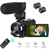 Video Camera Camcorder YouTube Vlogging Camera HD 1080P 30FPS 24MP 16X Digital Zoom 3