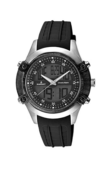 Radiant Reloj Cronógrafo para Hombre de Cuarzo con Correa en Caucho RA114601: Amazon.es: Relojes