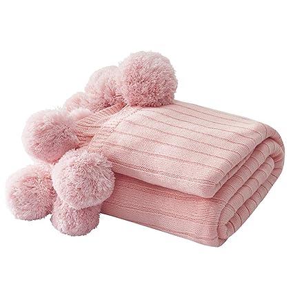 MINI Boutique Manta de algodón con pompón de Punto de ...
