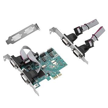 Adaptador PCI-E, PCI-E a RS232 Convertidor de Puerto Serie ...