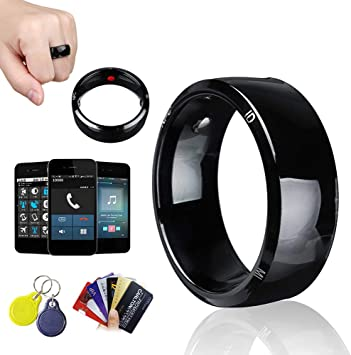 Color Dual chip, 6 Fashion Popular NFC Mobile Phone tag Smart Ring Stainless Steel 8mm Wide Smart Wearable Ring Smart Ring Couple Ring