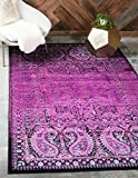 Cheap Unique Loom Imperial Collection Modern Traditional Vintage Distressed Lilac Area Rug (2′ x 3′)