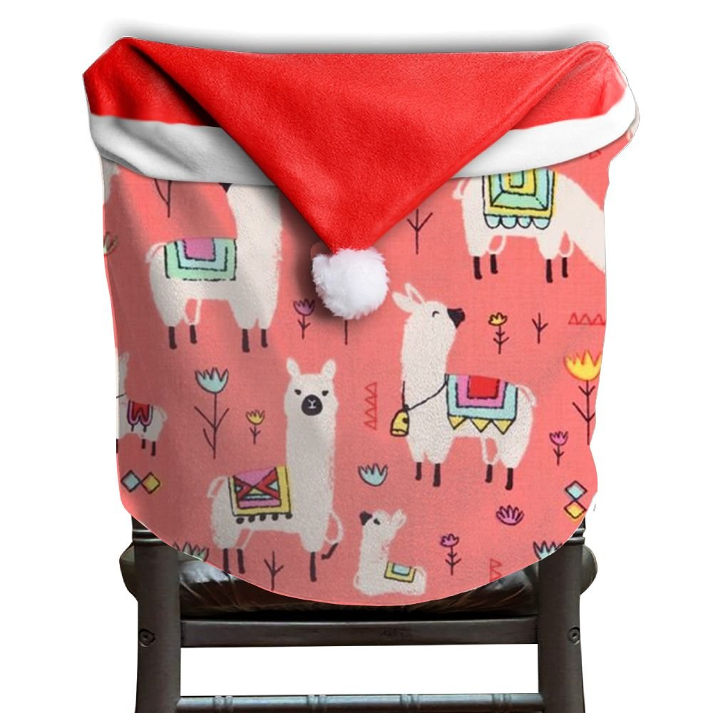 Llama Animal Christmas Chair Covers Personalized Easy To Carry Chair Covers For Christmas For Husbands Dinner Chair Covers Holiday Festive