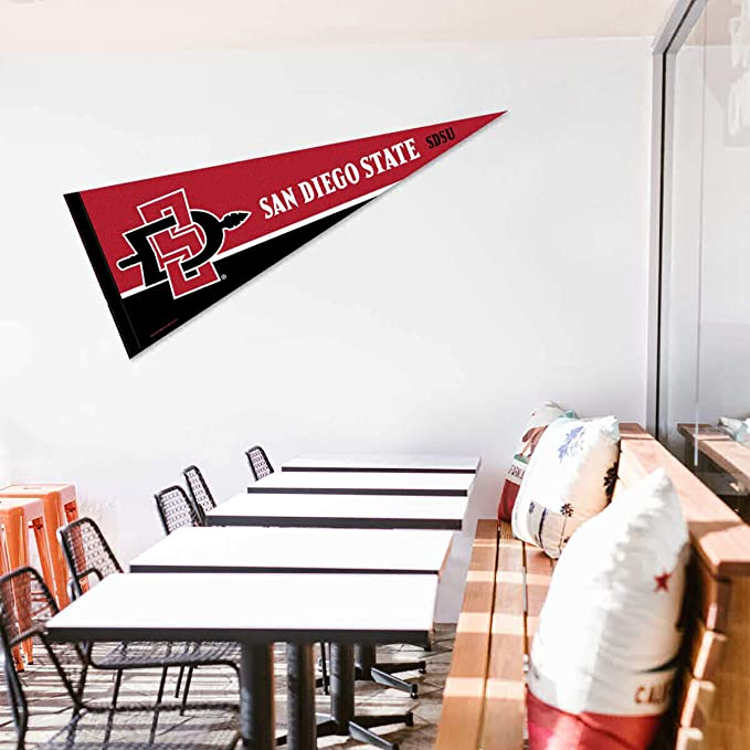 Amazon Com College Flags Banners Co San Diego State University Pennant Full Size Felt Sports Outdoors