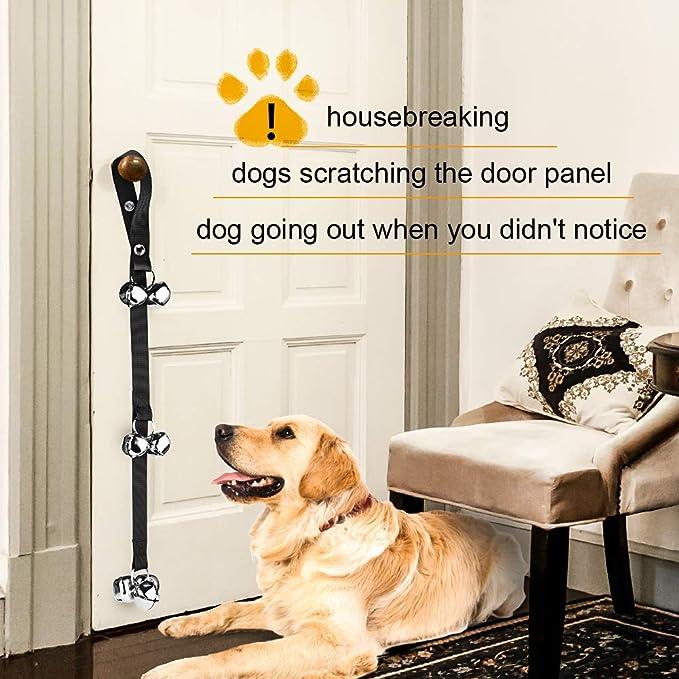 WXJ13 - Timbre para Perros con Alarma para Ayudar a Proteger la pérdida de Perros y Romper el hogar con clickers de Entrenamiento para Perros, ...